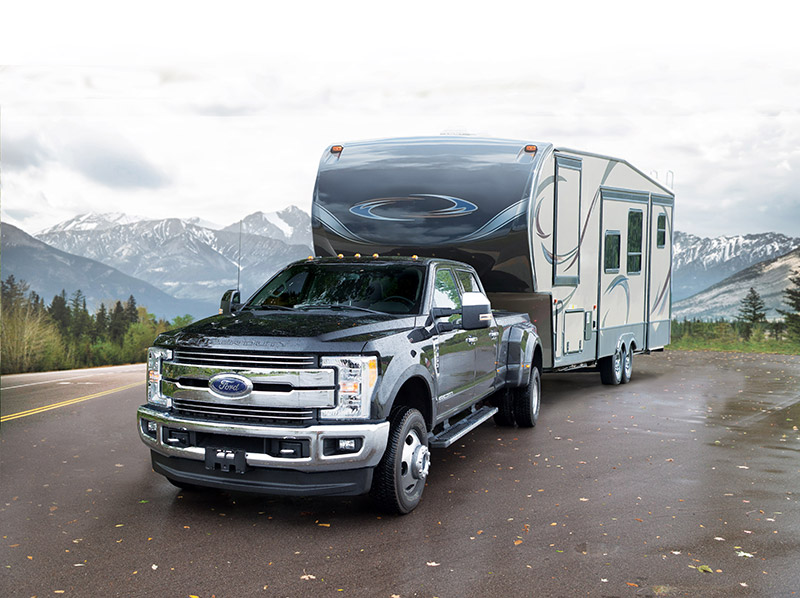 2016 RAM 3500 with trailer